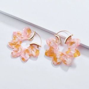 4 for 25/Peach and Pink Floral Earrings
